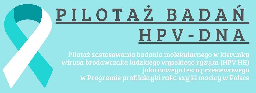 Pilotaż badań HPV-DNA